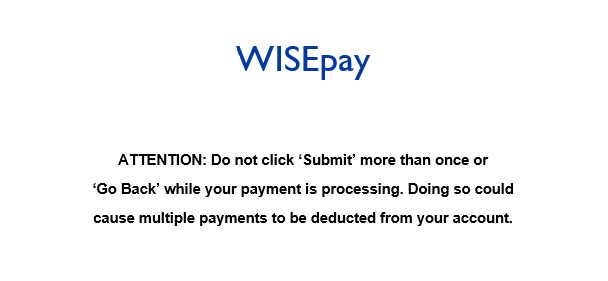 Vision Payment Message title=